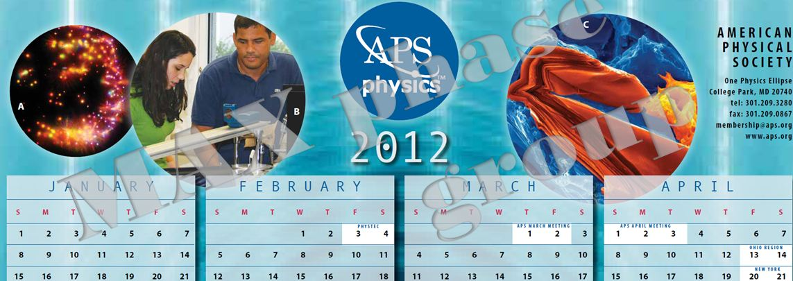 Max On The Aps Calendar