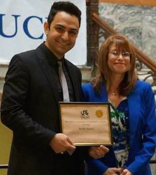 "Babak Anasori wins the ""Teaching Achievement Award"""